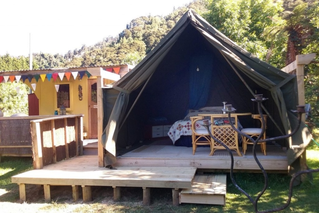 glamping Flying Fox Gypsy Cart
